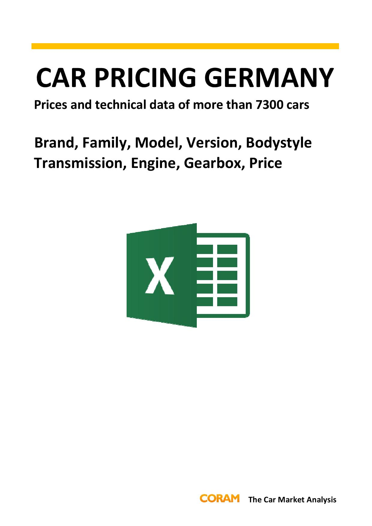 Car Pricing Germany PC : July 2016