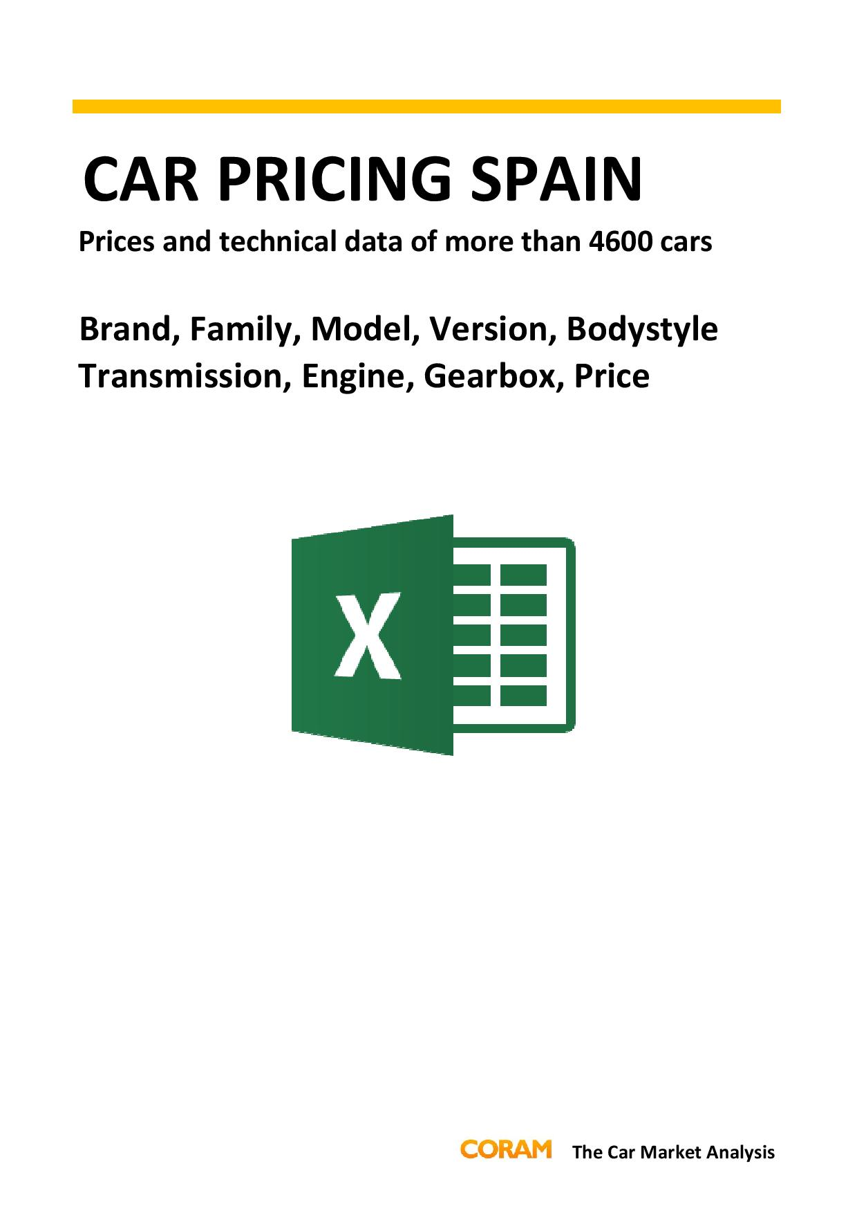 Car Pricing Spain : August 2016