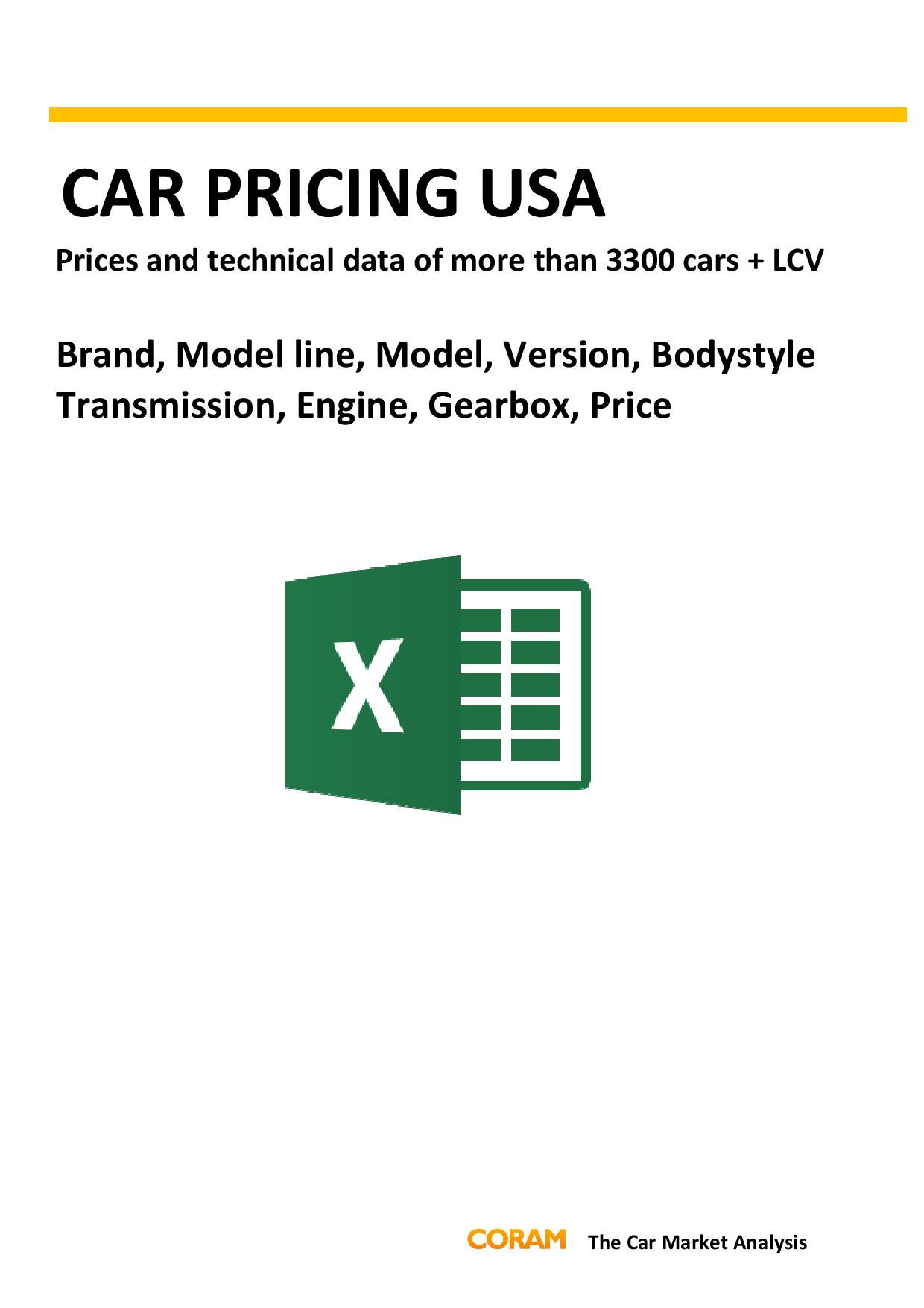 Car Pricing USA : November 2016